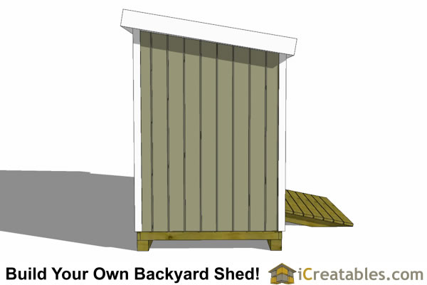 6x16 lean to shed plans end elevation