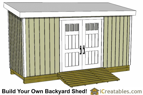 6x16 lean to shed front
