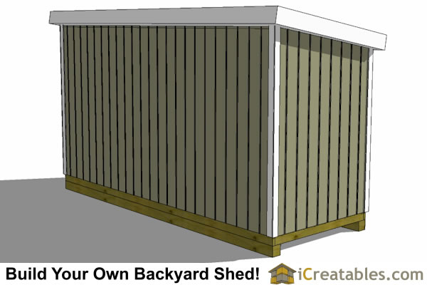 6x16 lean to shed plans rear view