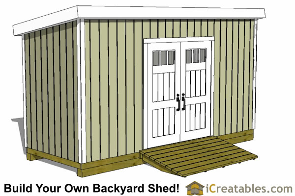 6x16 lean to shed plans alternate door