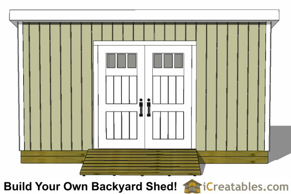 6x16 lean to shed plans doors on tall wall