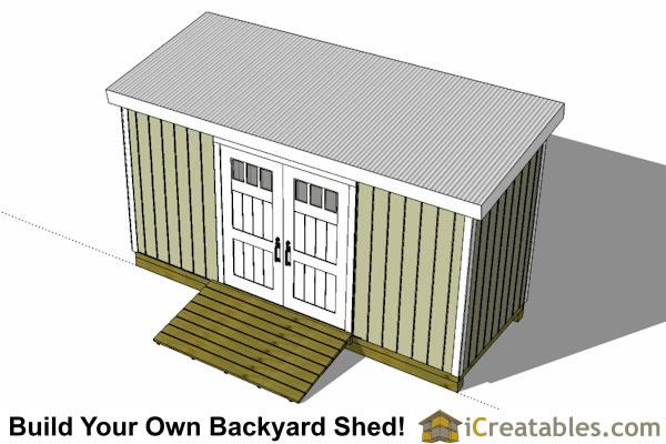 6x16 lean to shed plans top view