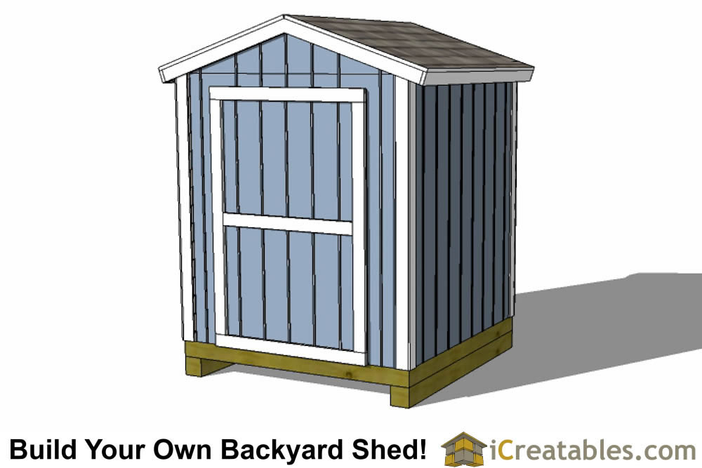 6x6 Shed Plans 6x6 Storage Shed Plans Icreatables Com