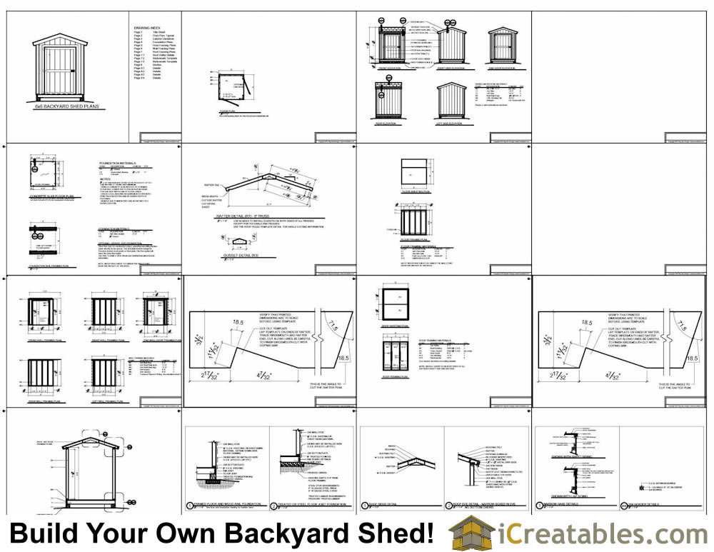 6x8 garden shed plans example