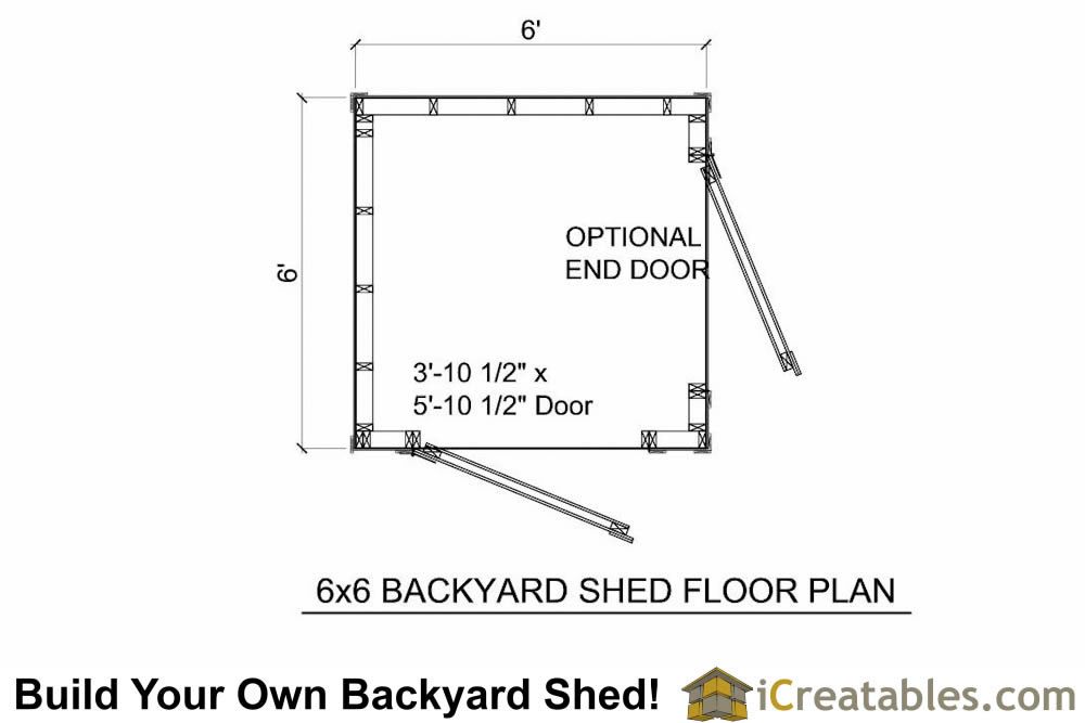 6x6 backyard shed floor plans