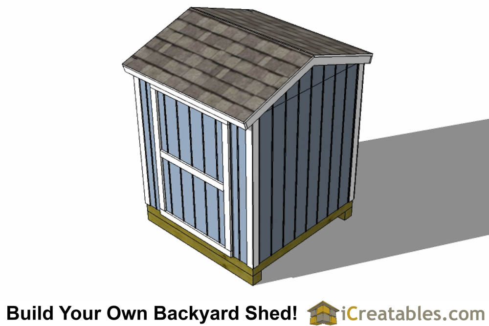 6x6 shed plans top view