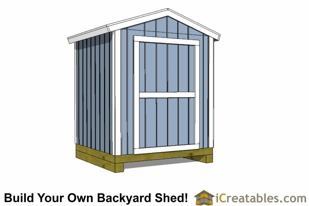 6x8 shed plans gable shed