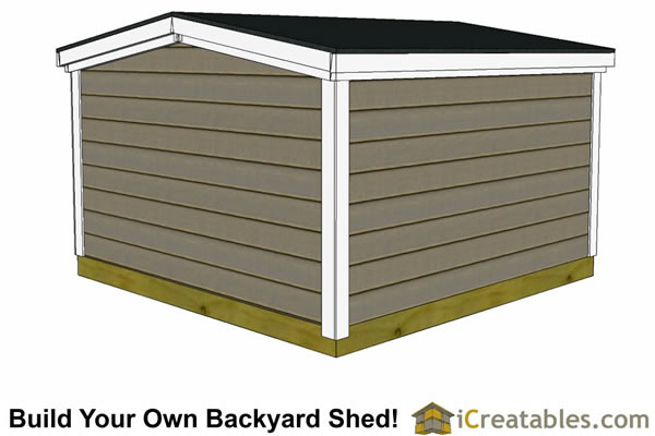 6x6 6 foot tall shed plans front