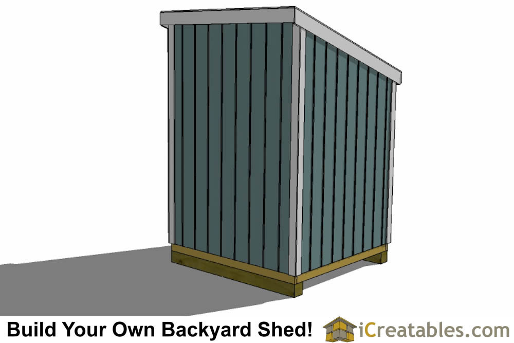 6x6 lean to shed plans top view