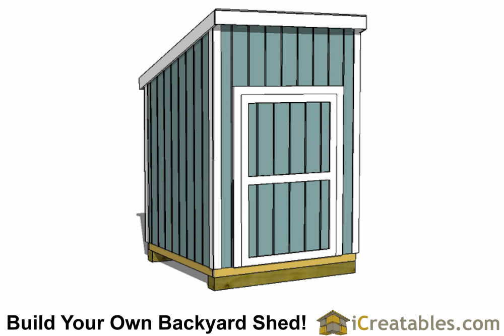 6x6 lean to shed plans end door