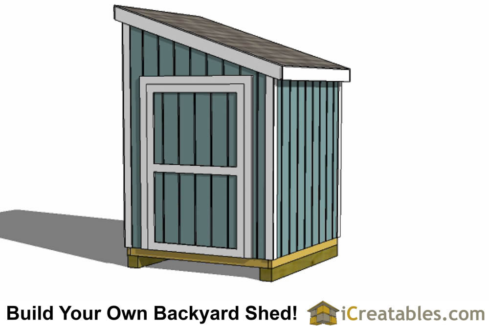 6x6 lean to shed plans door on tall wall