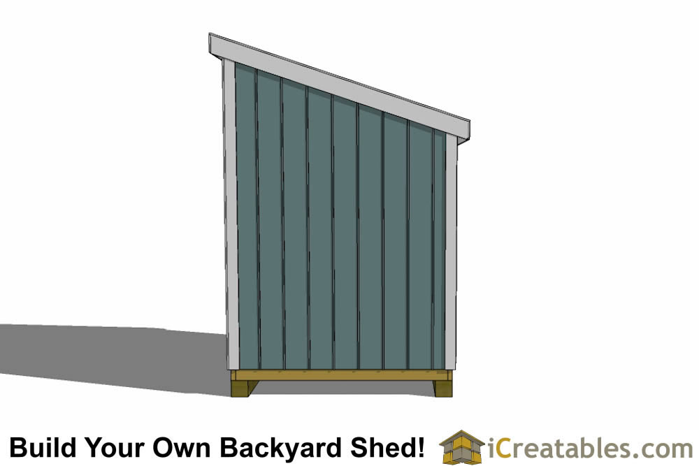 6x6 lean to shed plans end view
