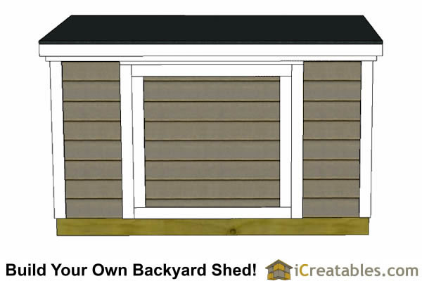 6x8 6 foot tall shed plans front