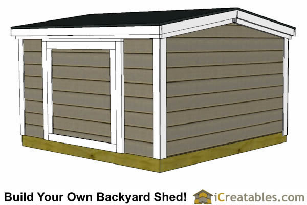 6x8 6 foot tall shed plans top