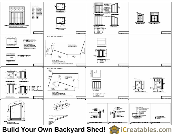 6x8 lean to shed plans example