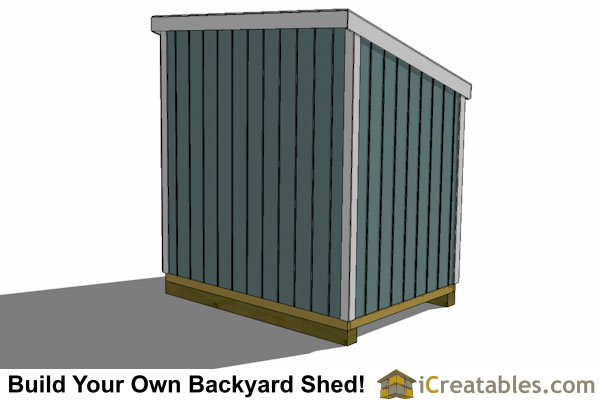 6x8 lean to shed plans rear view
