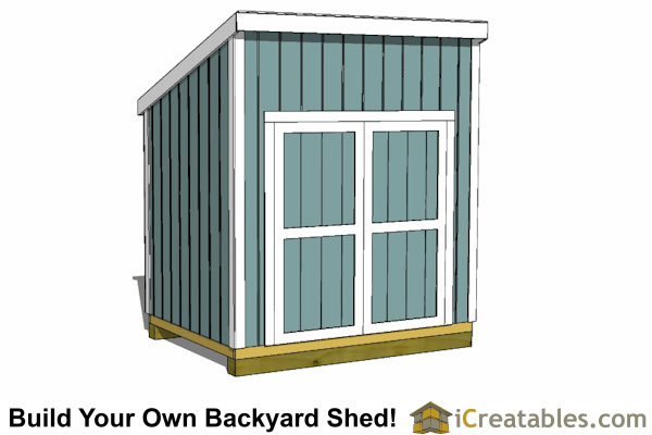 6x8 lean to shed plans door on tall wall