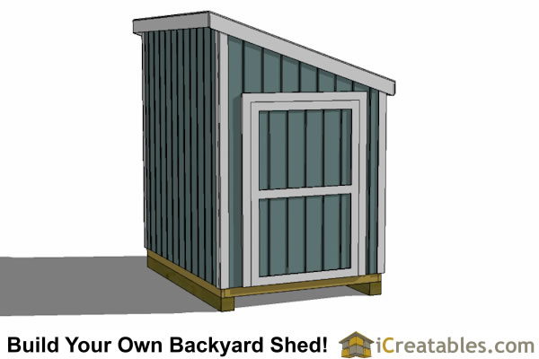 6x8 lean to shed plans end door