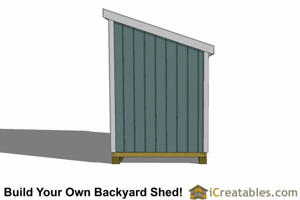 6x8 lean to shed plans end view