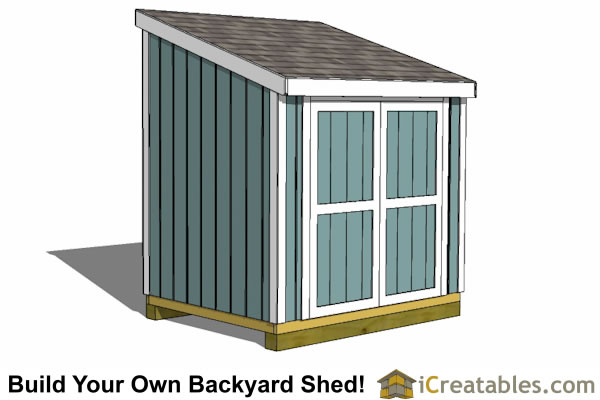 6x8 Shed Plans | 6x8 Storage Shed Plans | Icreatables.com