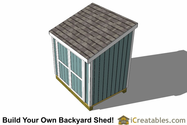 6x8 lean to shed plans top view