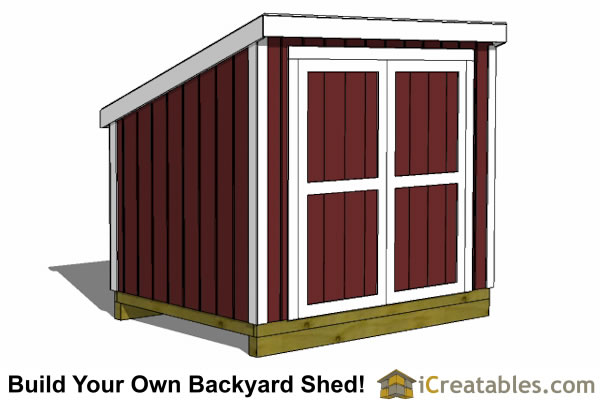 6x12 lean to shed plans with short walls