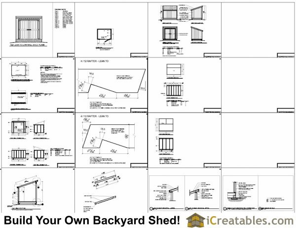 lean to shed plans with short walls