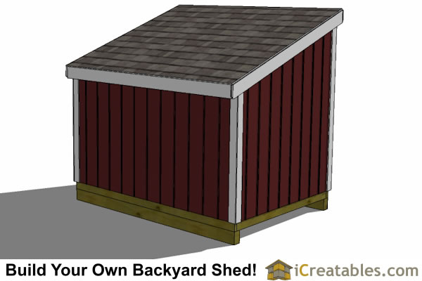 4x8 lean to shed left