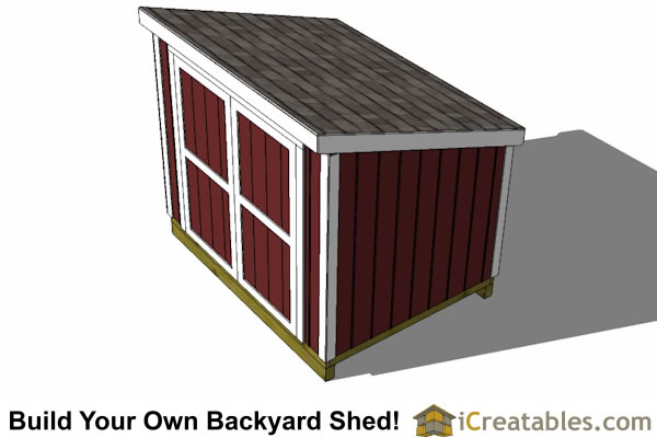 6x8 lean to lean to plans with short walls for Best shed plans
