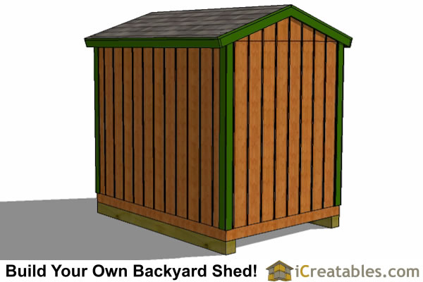 6x8 shed plans left rear