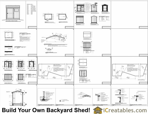 Sample Of The 6x8 Gable Storage Shed Plans :
