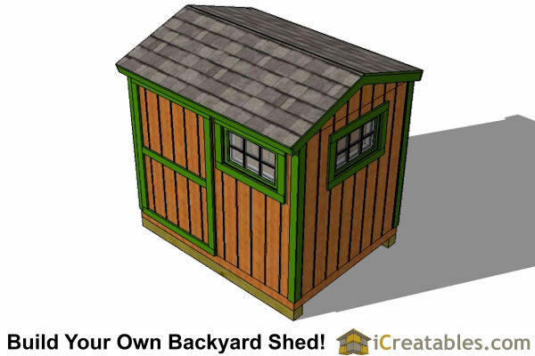 6x8 shed plans top view