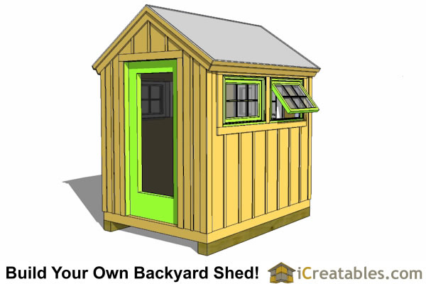 6x8 Greenhouse Shed Plans | Storage Shed Plans ...
