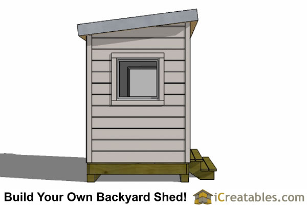 6x8 shed plan front