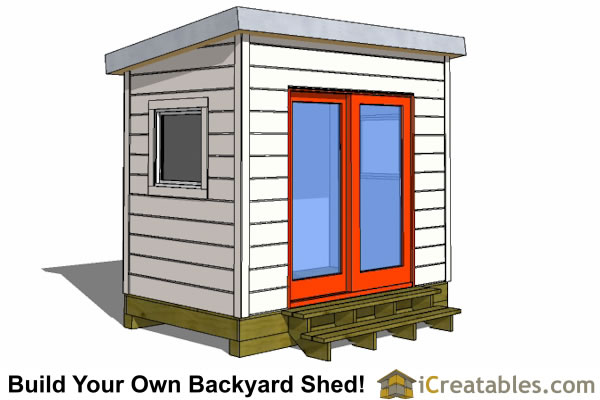 6x8 office shed design