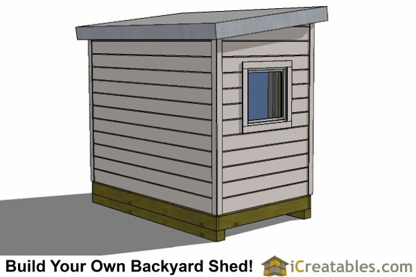 6x8 office shed plan rear