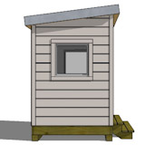 8x10 shed plan front