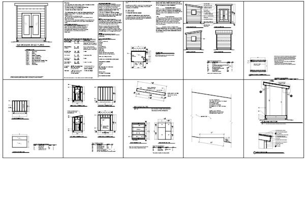 Shed plans icreatables goehs for 8x10 office design