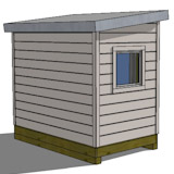 8x10 shed plan rear