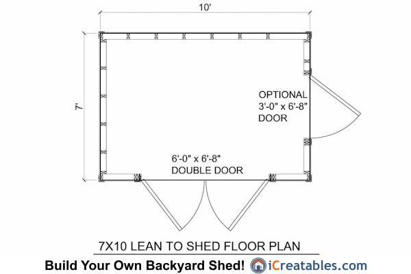 7x10 Lean To Shed Floor Plans