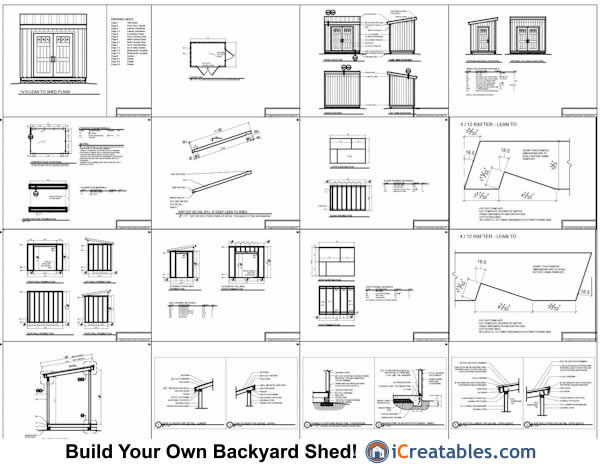 7x10 lean to shed plans example