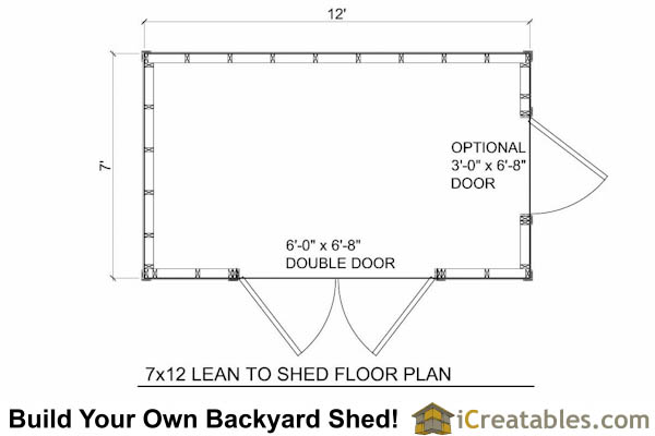 7x12 Lean To Shed Floor Plans