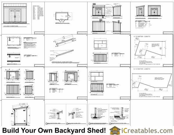 7x12 lean to shed plans example