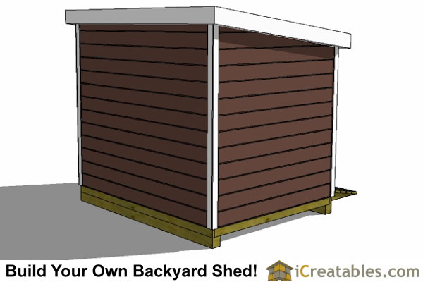 7x12 lean to shed rear
