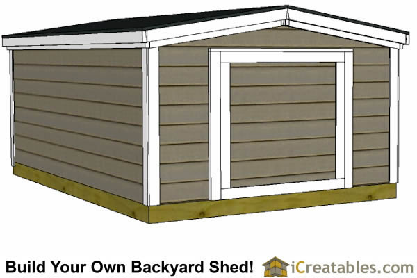 8x12 6 foot tall shed plans