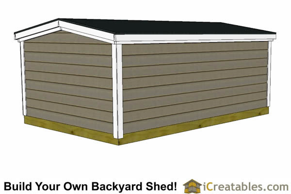 8x8 6 foot tall shed plans front