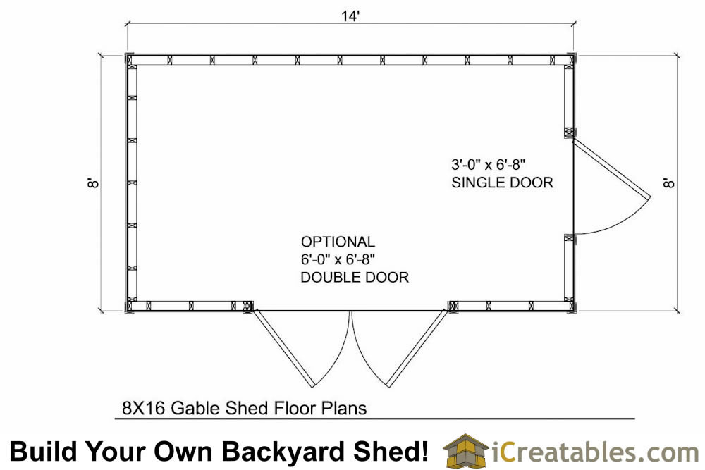 8x14 Shed Plan Floor