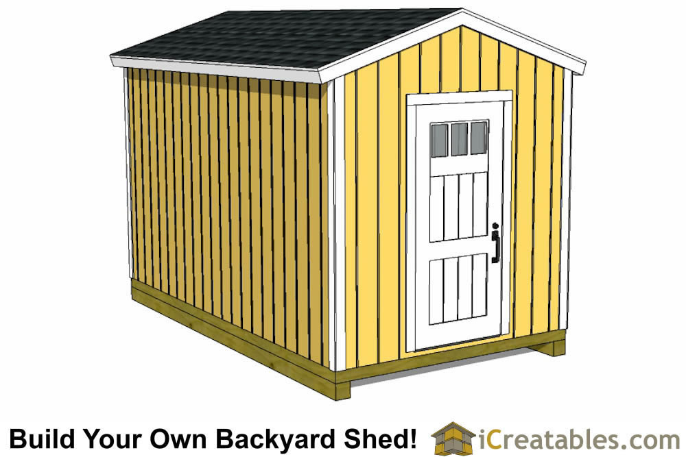 8x16 modern studio shed plan