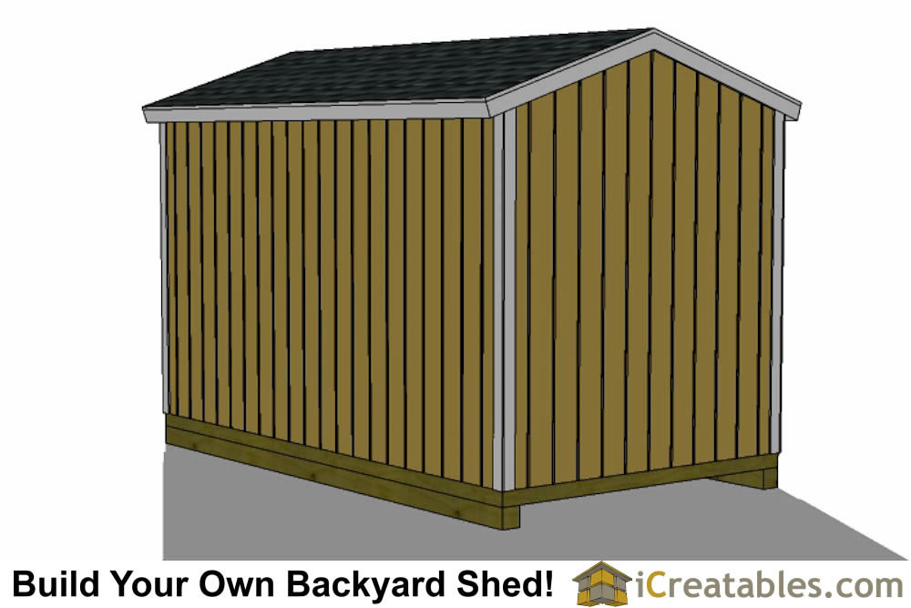 8x14 backyard shed plans front