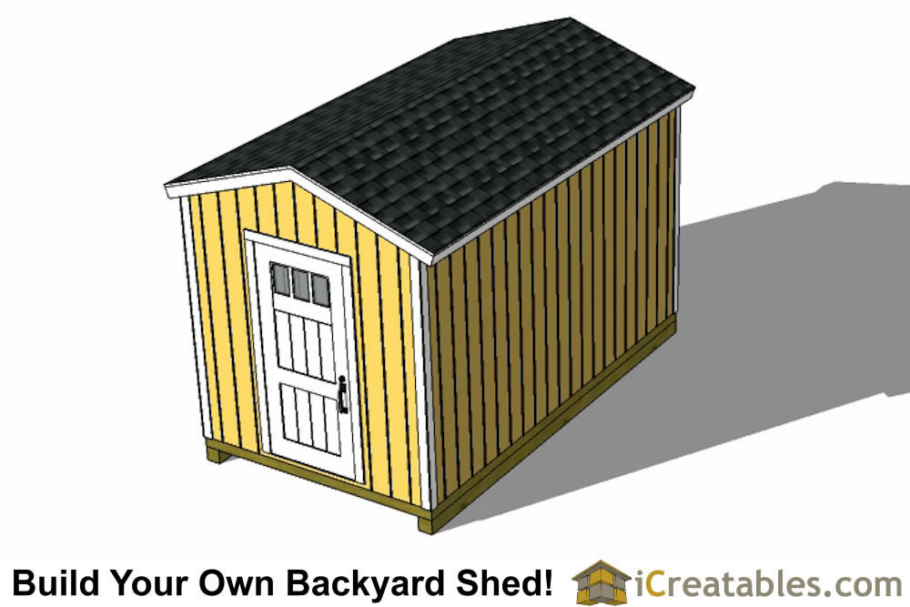 8x14 backyard gable shed side door elevation